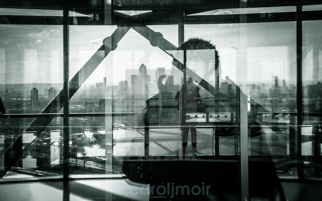 """""""reflections on london"""" stock image"""