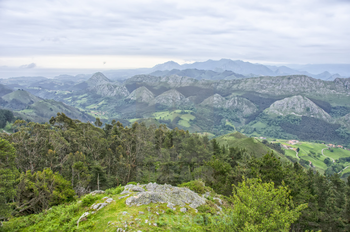 """View of the Picos de Europa"" stock image"