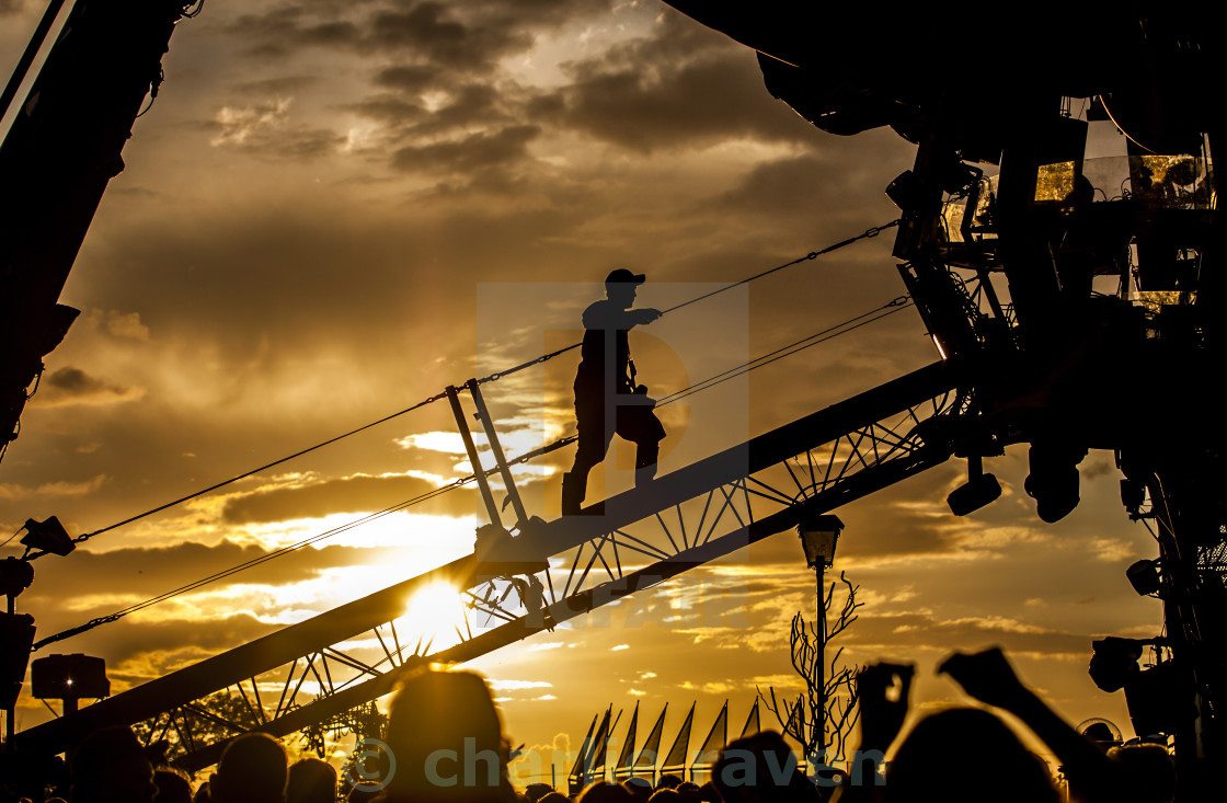 """Working Sunset"" stock image"