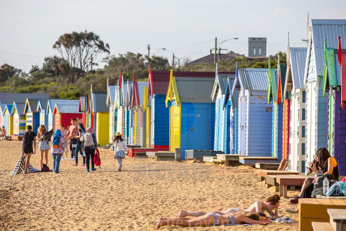 """""""Brighton Beach Boxes"""" stock image"""