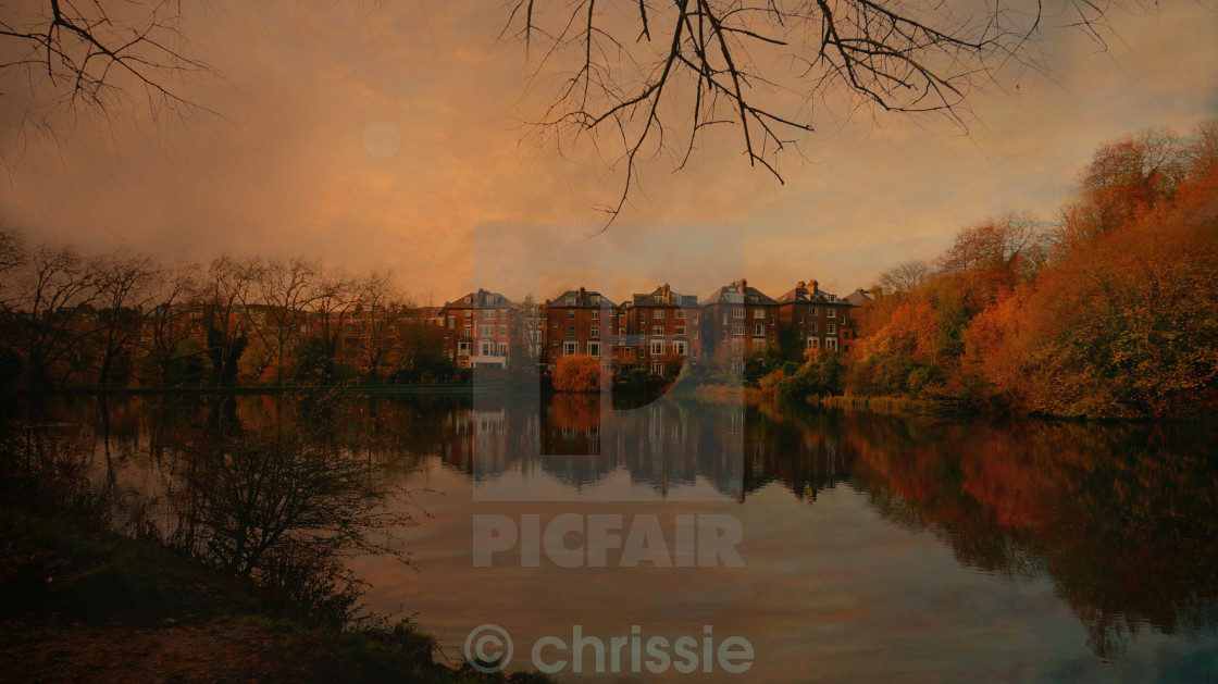 """A autumn day on east heath hampstead london uk"" stock image"