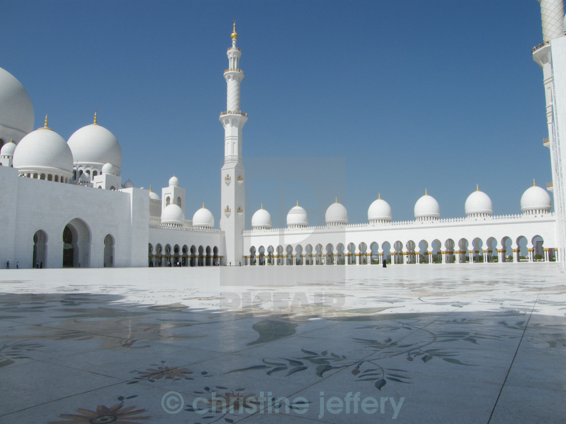 """Sheikh Zayed Grand Mosque"" stock image"