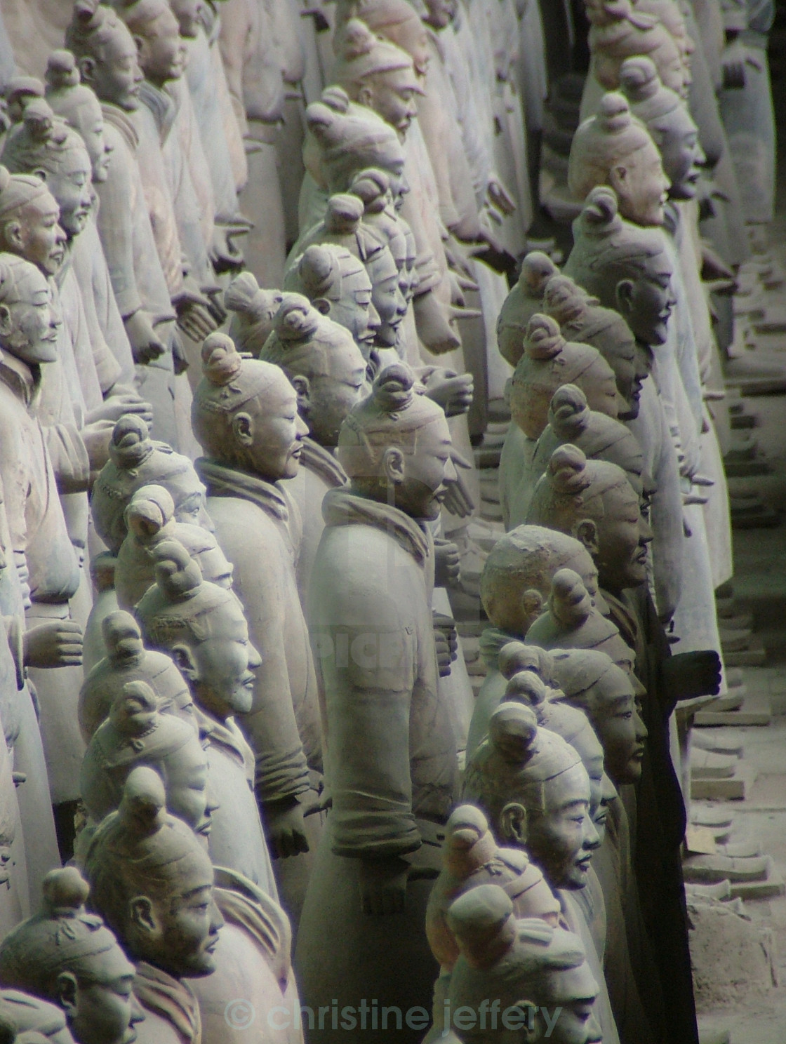 """""""Terracotta Warriors all in a row"""" stock image"""