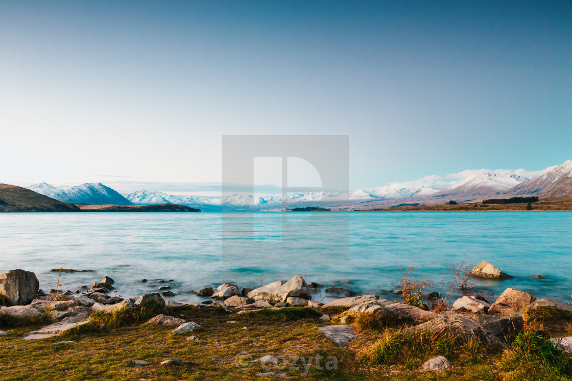 """Lake Tekapo, South Island, New Zealand"" stock image"