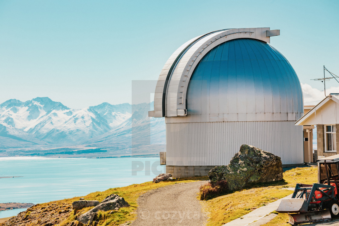 """Mt. john observatory at New Zealand"" stock image"