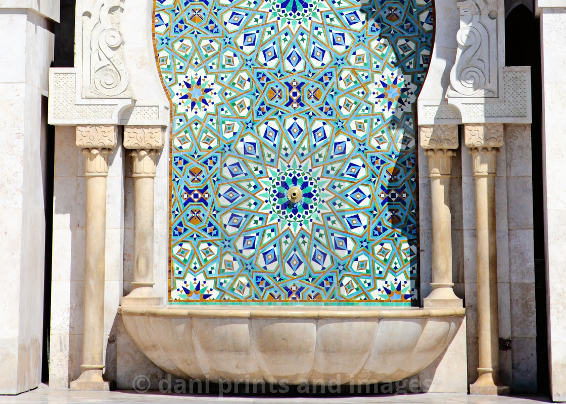 """Close up of Arabic Architecture. King Hassan II Mosque, Casablan"" stock image"