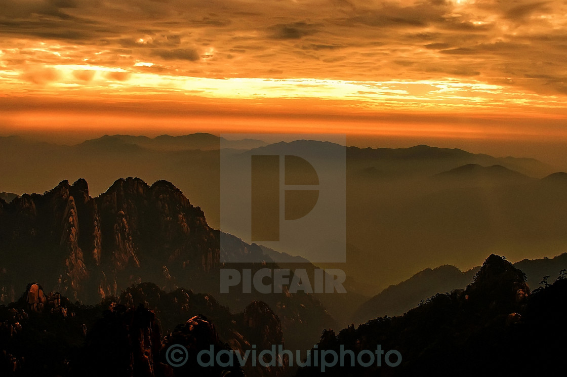 """Yellow Mountain, China"" stock image"