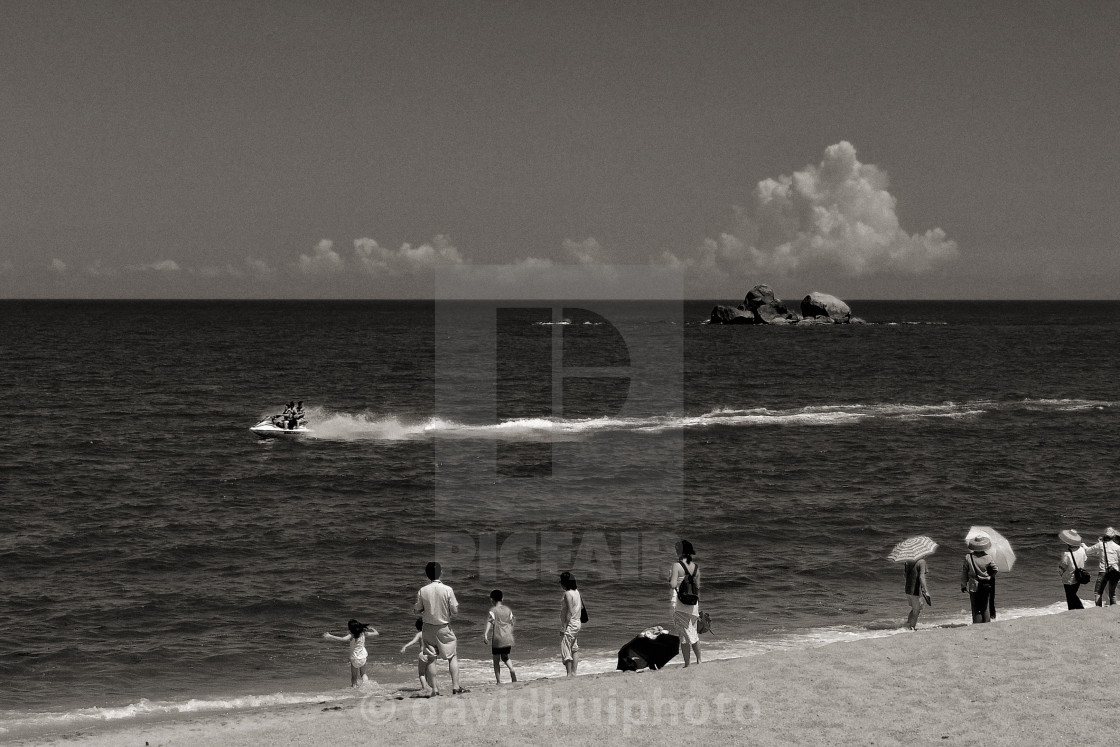 """Sanya bay beach, Hainan, China"" stock image"