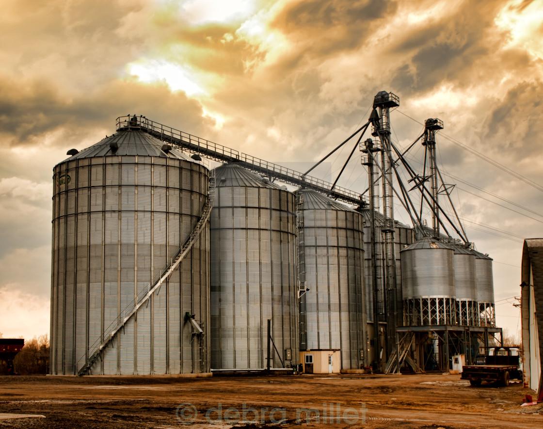 """industrial silos"" stock image"
