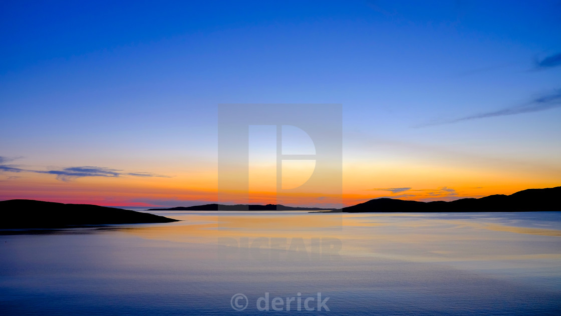 """Sound of Taransay sun set"" stock image"