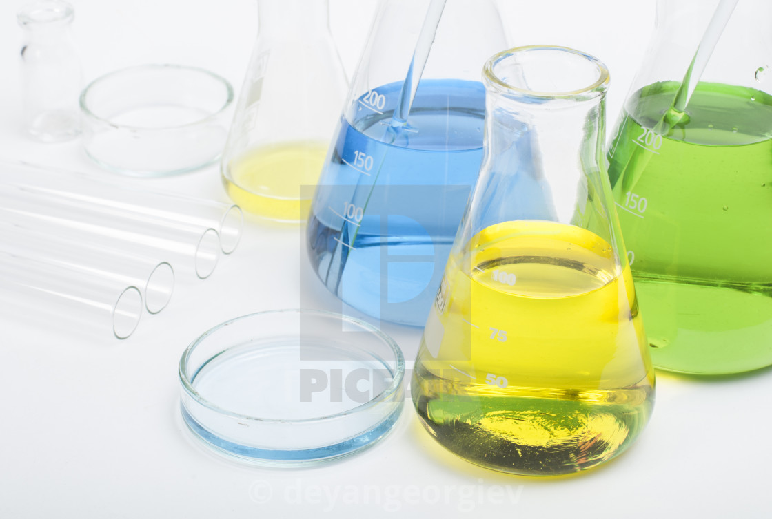 """Laboratory glassware equipment"" stock image"