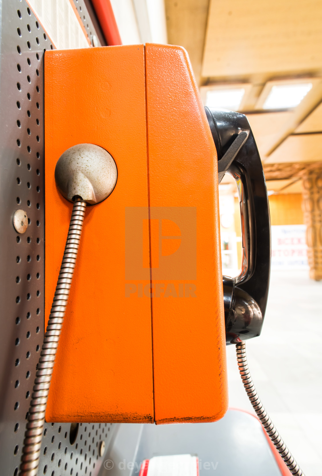 """Close up pay phone"" stock image"