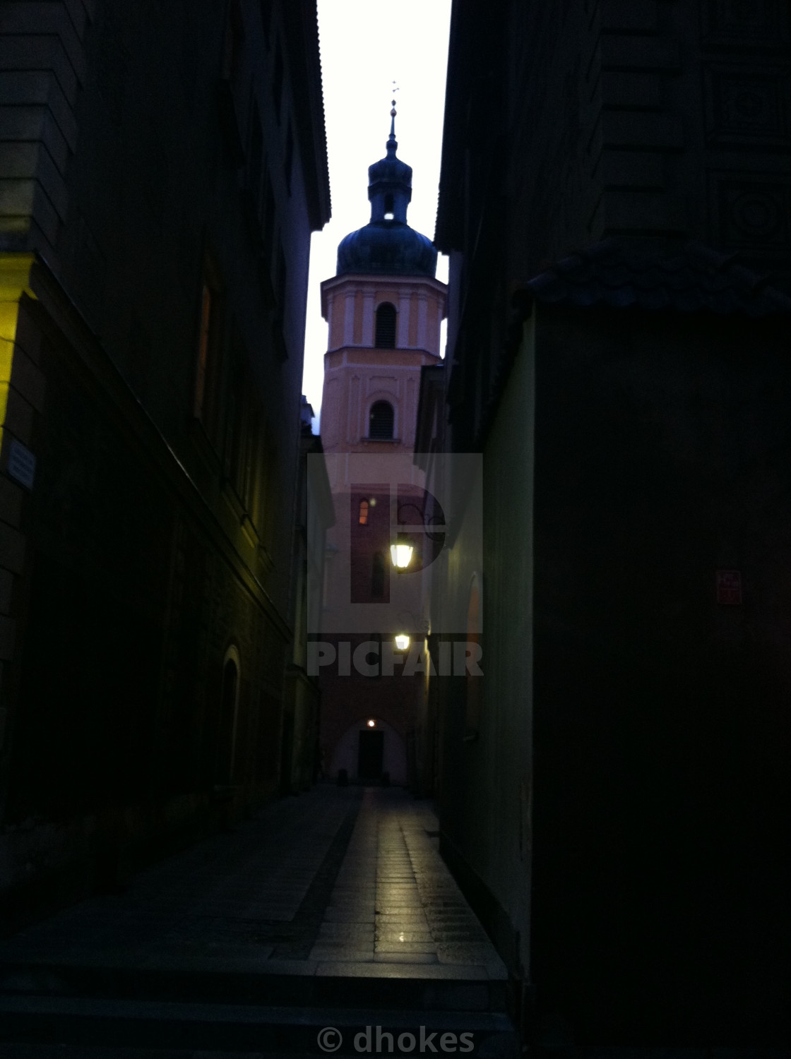 """Alley, Warsaw"" stock image"