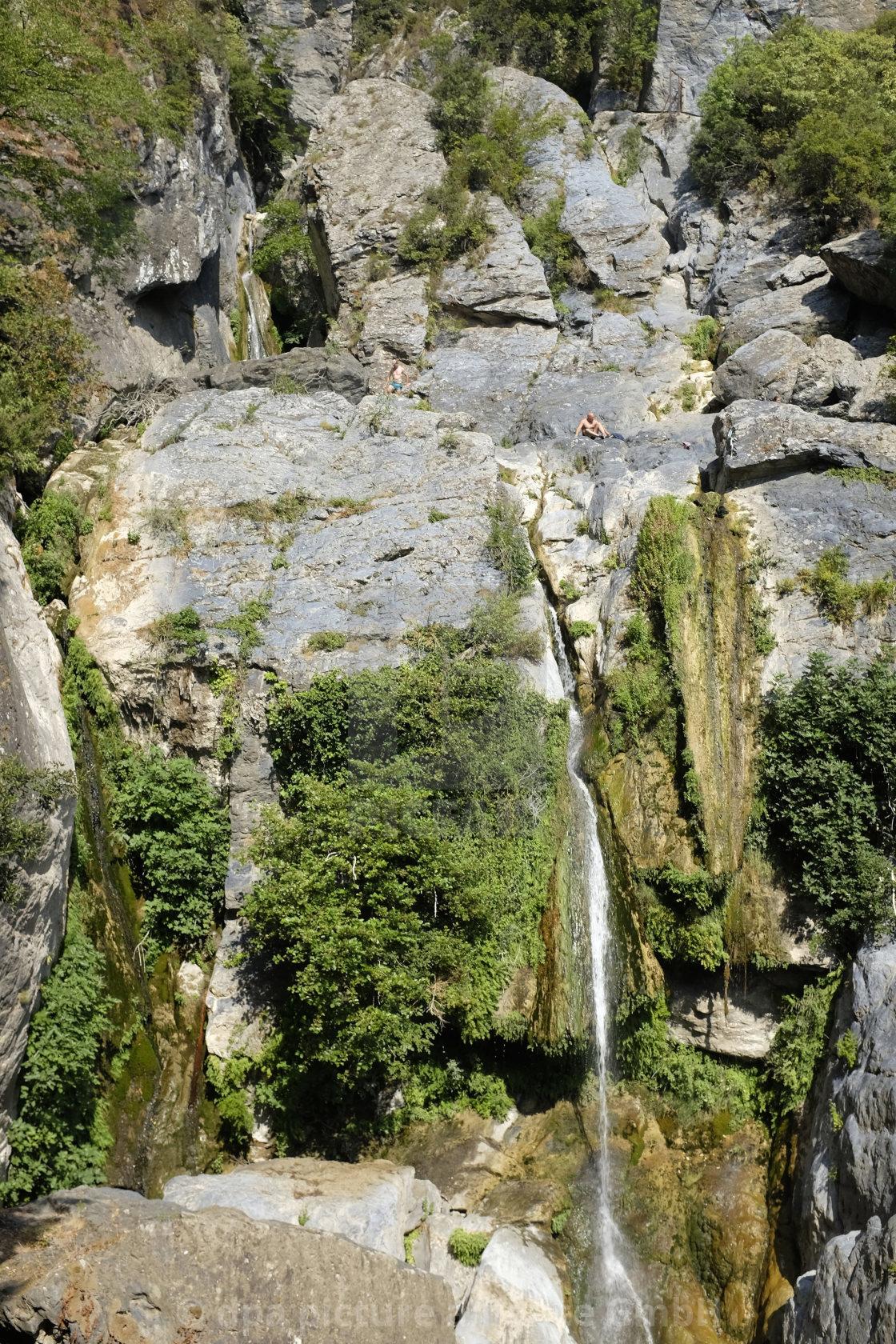 waterfall cascade De L'Ucelluline near San Nicolao on