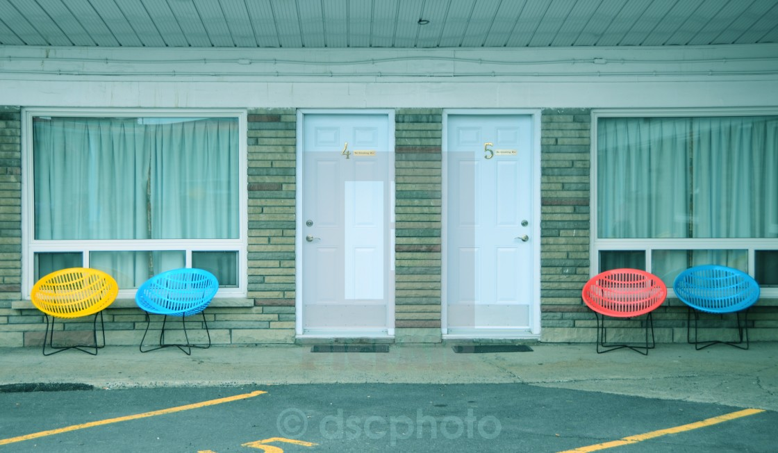 """Retro Motel"" stock image"
