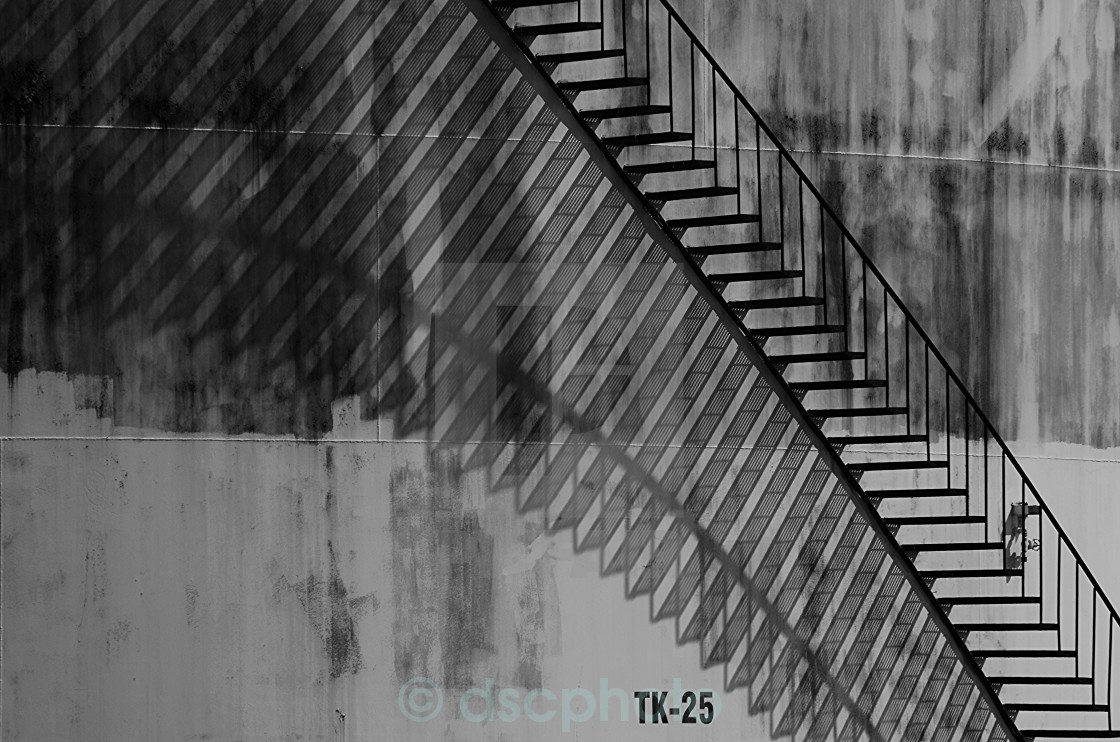 """Shadows & Stairs"" stock image"