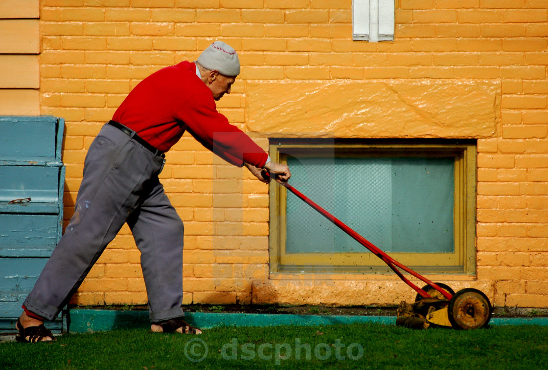 """Keep Off My Lawn"" stock image"