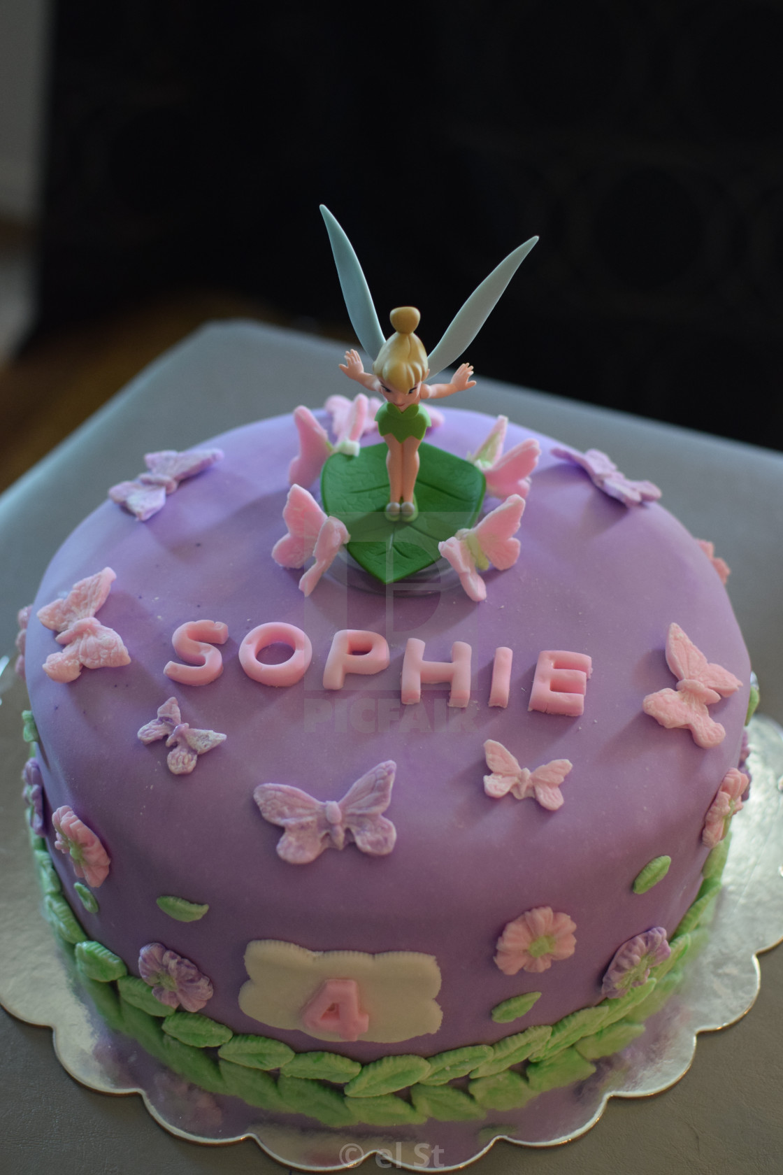 Superb Tinkerbell Birthday Cake License Download Or Print For 50 00 Personalised Birthday Cards Cominlily Jamesorg