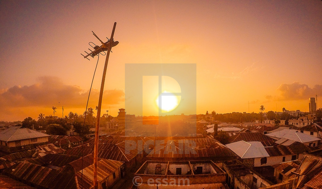 """sunrise mombasa"" stock image"