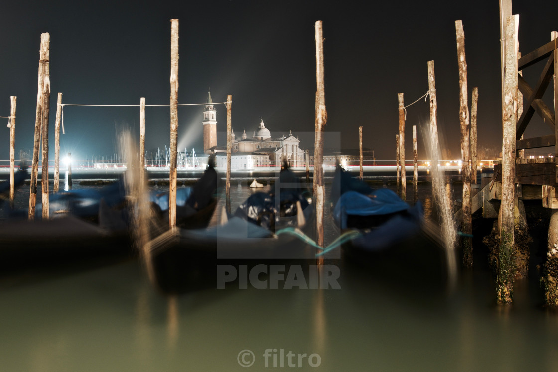 """venice in the night"" stock image"