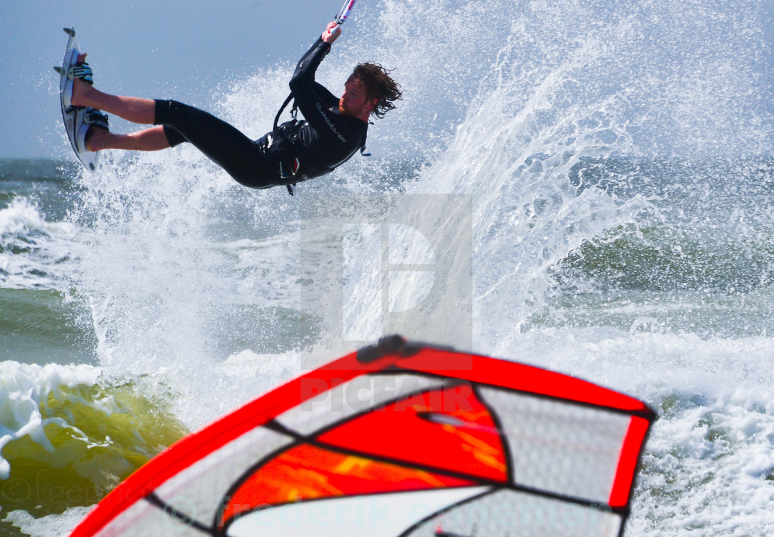 """""""Kitesurfer jump"""" stock image"""