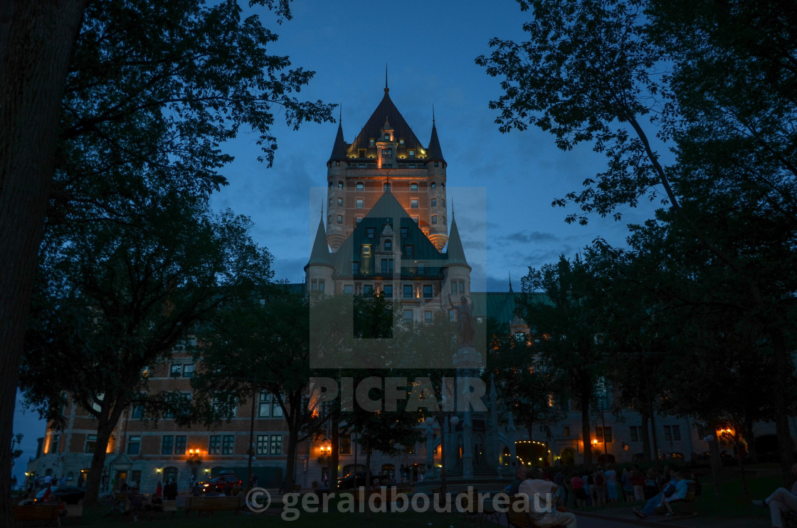 """Chateau Frontenac"" stock image"