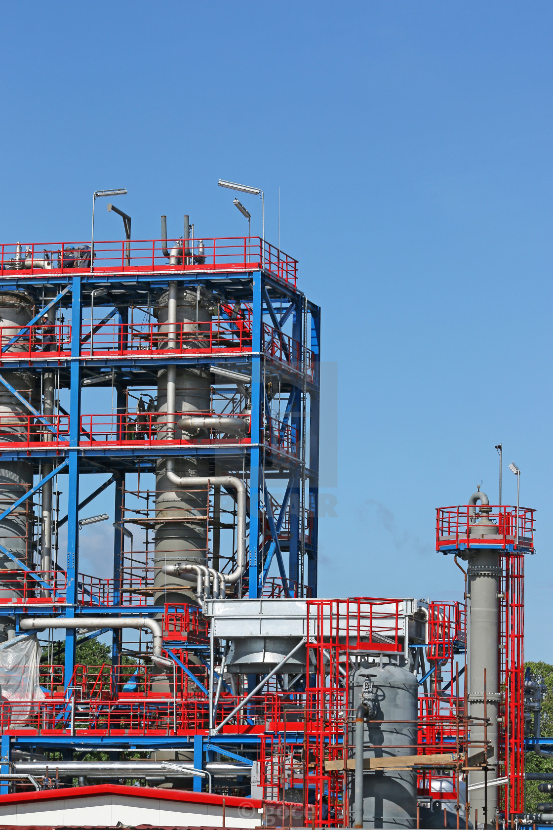 new petrochemical plant construction site - License