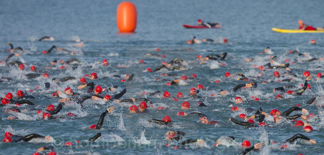 """Triathlon Frankfurt"" stock image"