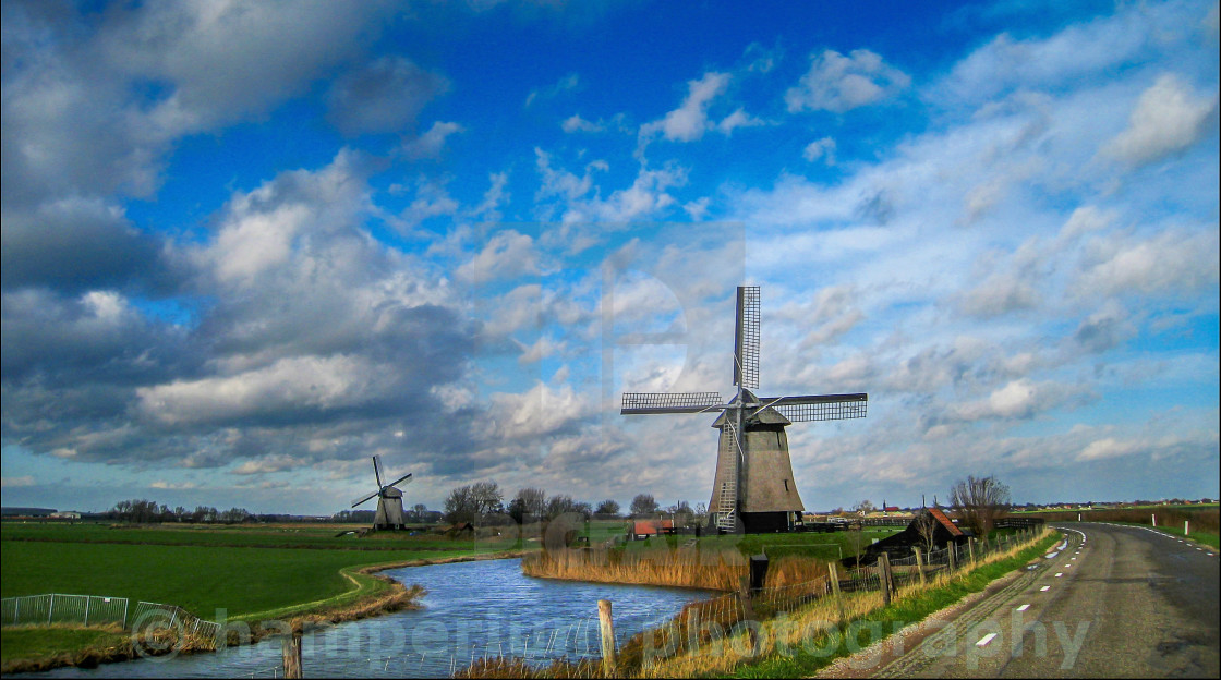 """Dutch mill"" stock image"
