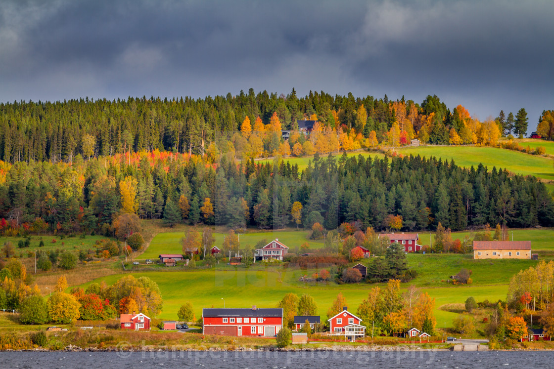 """Autumn in Östersund , Jämland Sweden"" stock image"