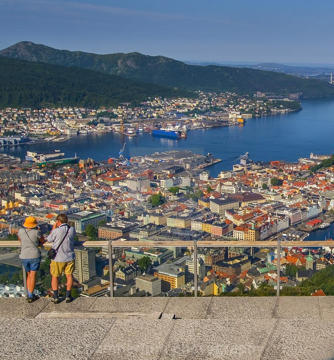 """""""City of Bergen in Norway"""" stock image"""