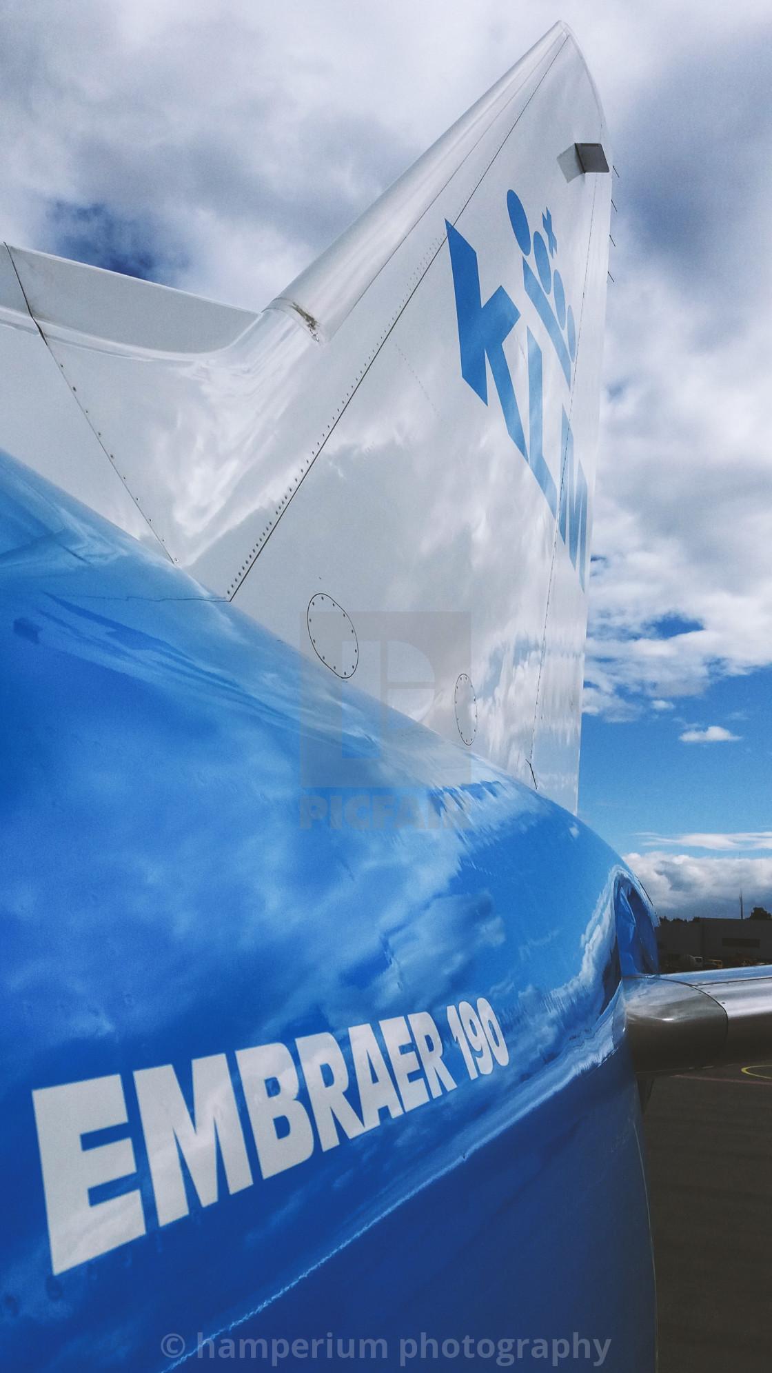 """KLM Embraer 190"" stock image"