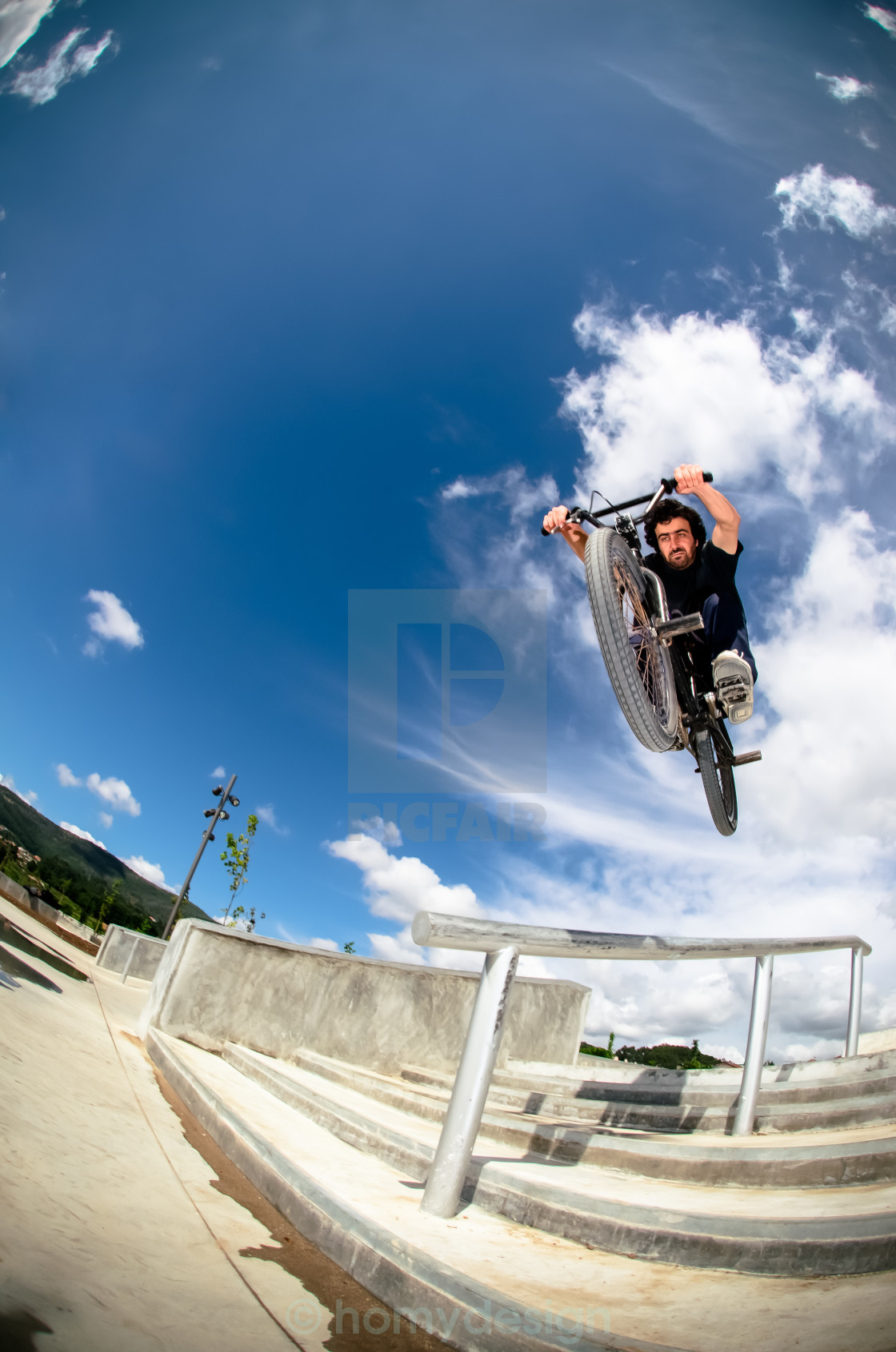 """Bmx big air jump"" stock image"
