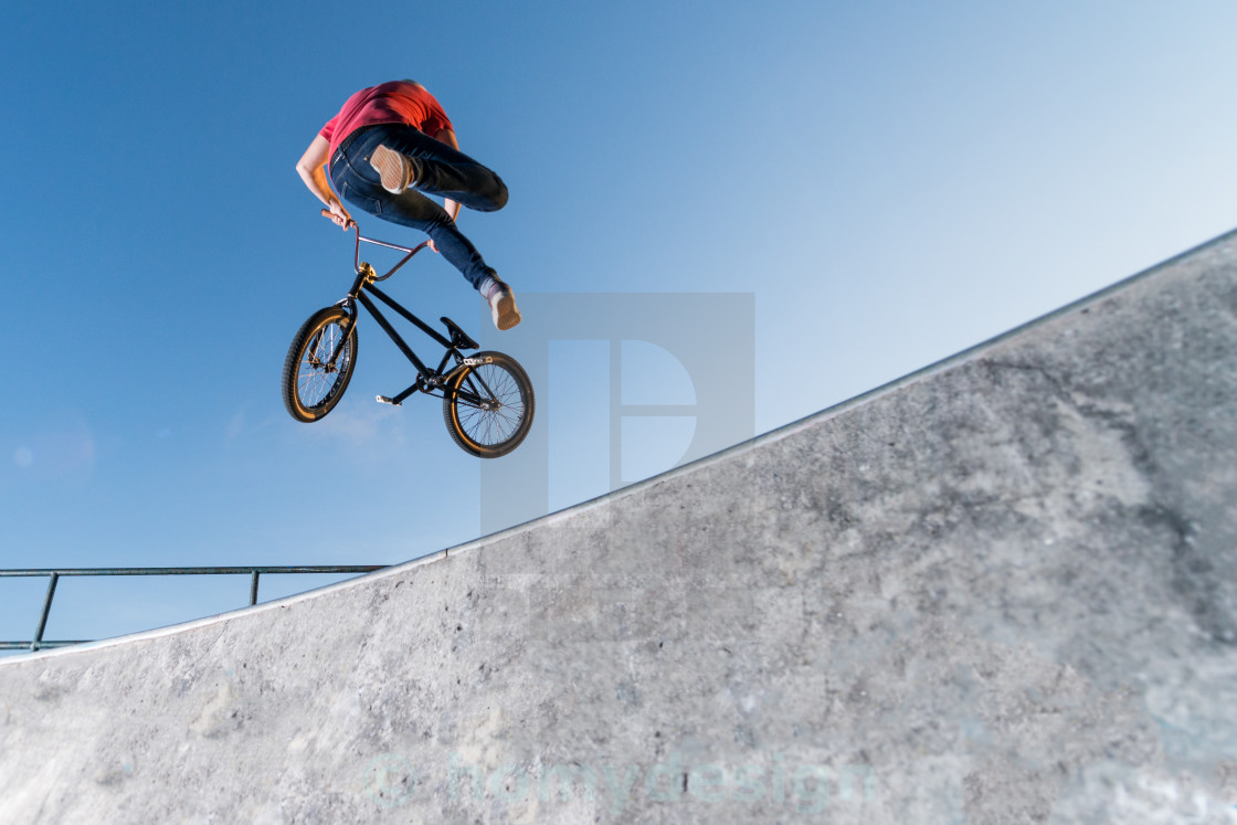"""BMX Bike Stunt Table Top"" stock image"