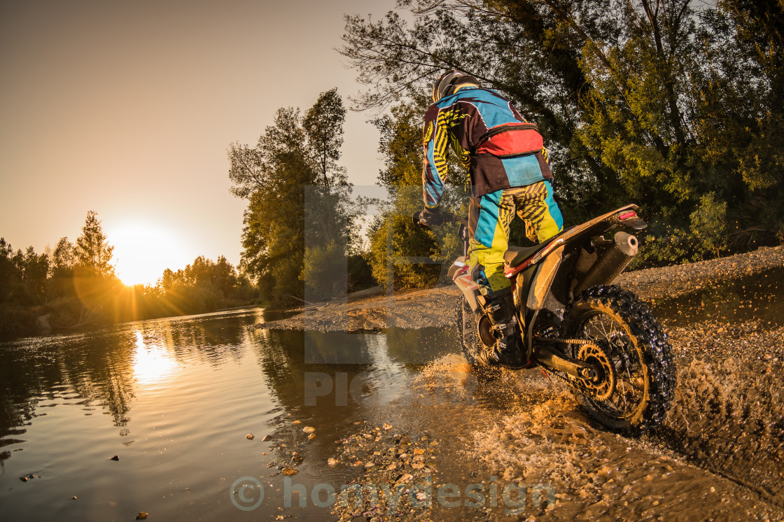 """Enduro bike rider"" stock image"