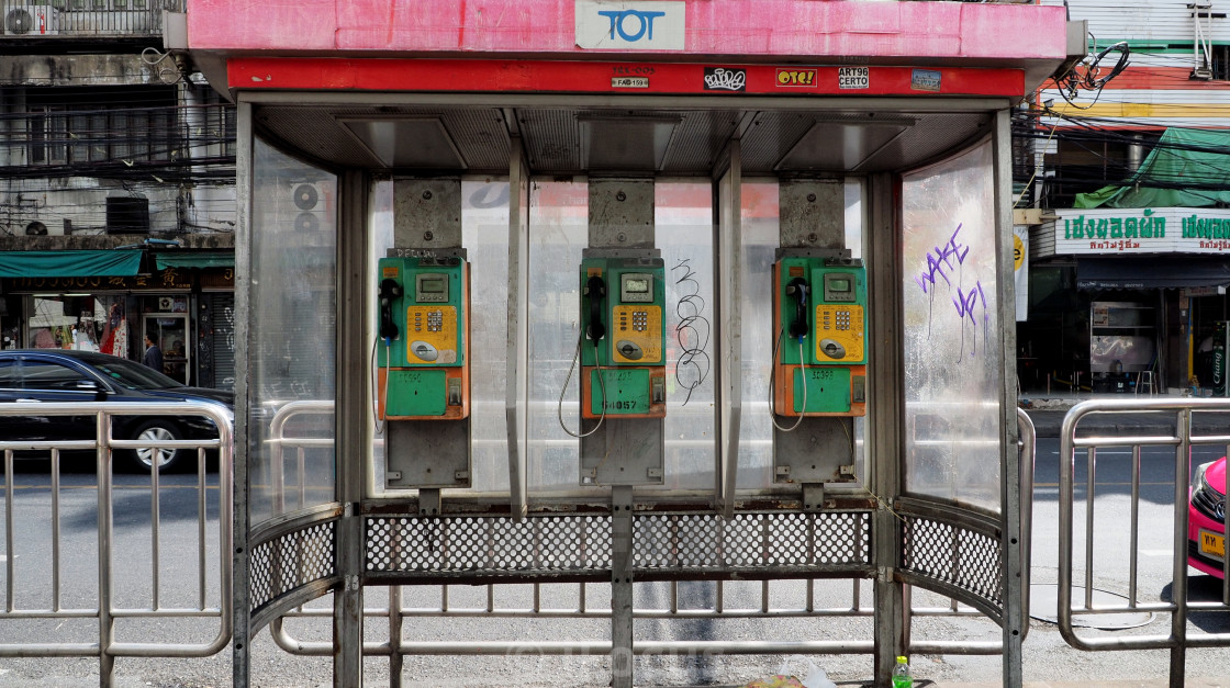 """""""TOT public pay phones"""" stock image"""