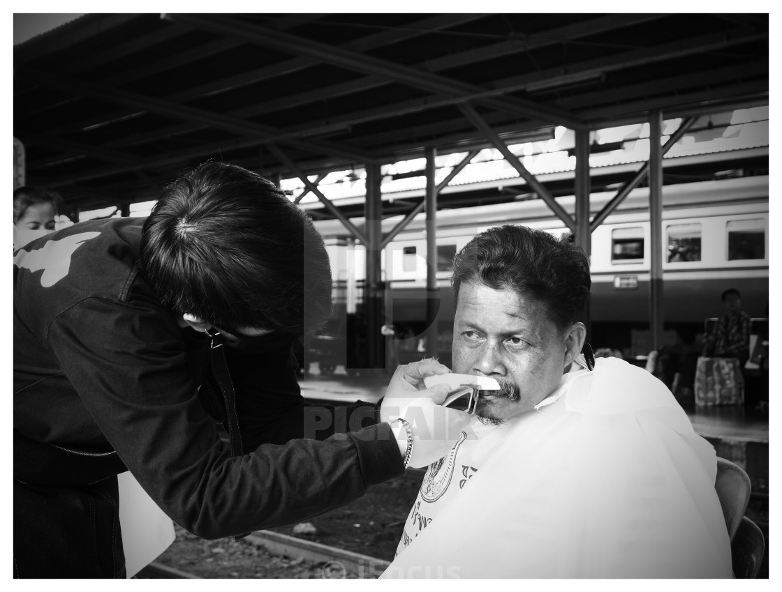 """Barber in action"" stock image"