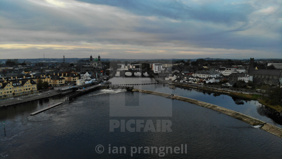 """""""Athlone and the River Shannon"""" stock image"""