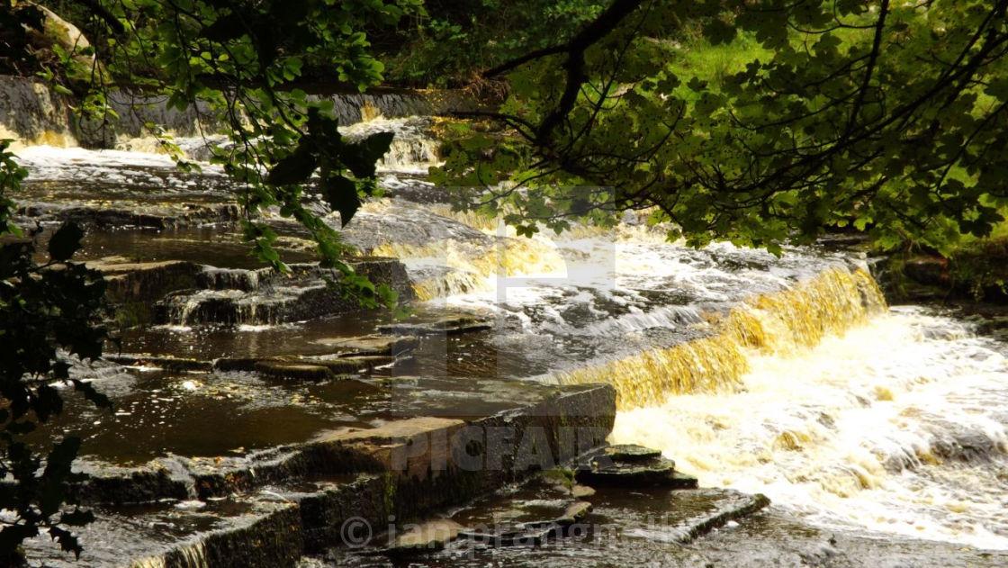 """Roogagh Waterfall Garrison"" stock image"
