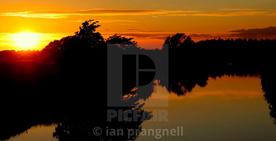 """River Inny outside Ballymahon in Ireland"" stock image"
