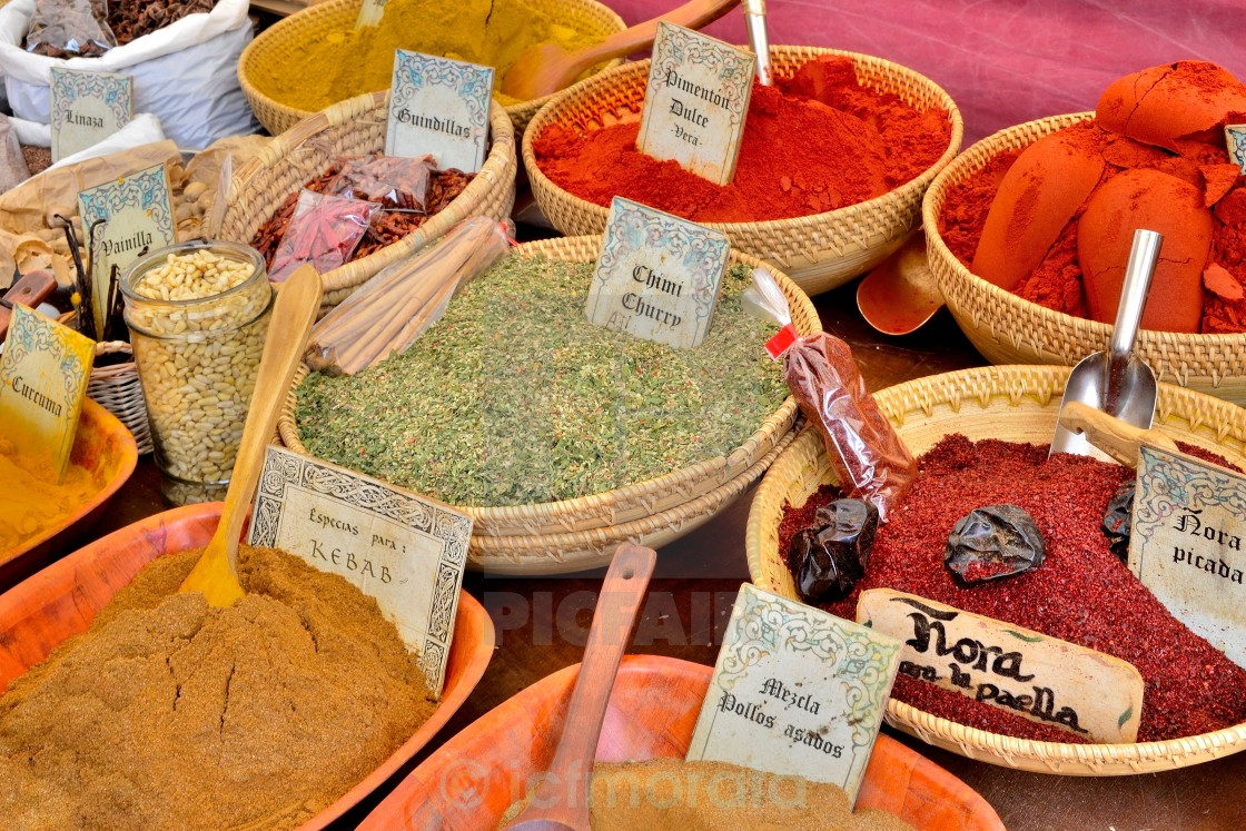 """exotic spices"" stock image"