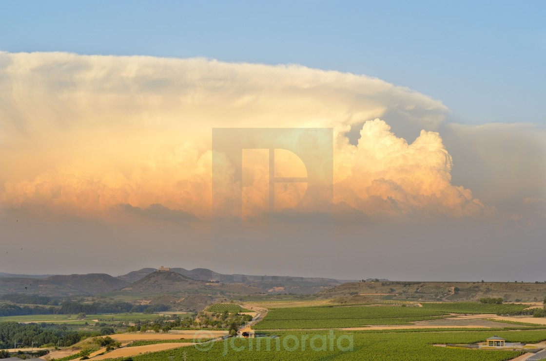 """Supercell storm"" stock image"