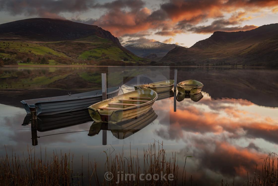 """""""sunrise over Lynn Nantle"""" stock image"""