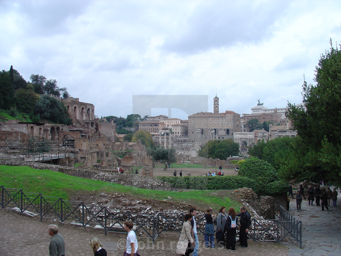 """The Ruins Of the Ancient Roman Forum Area of Rome Italy"" stock image"