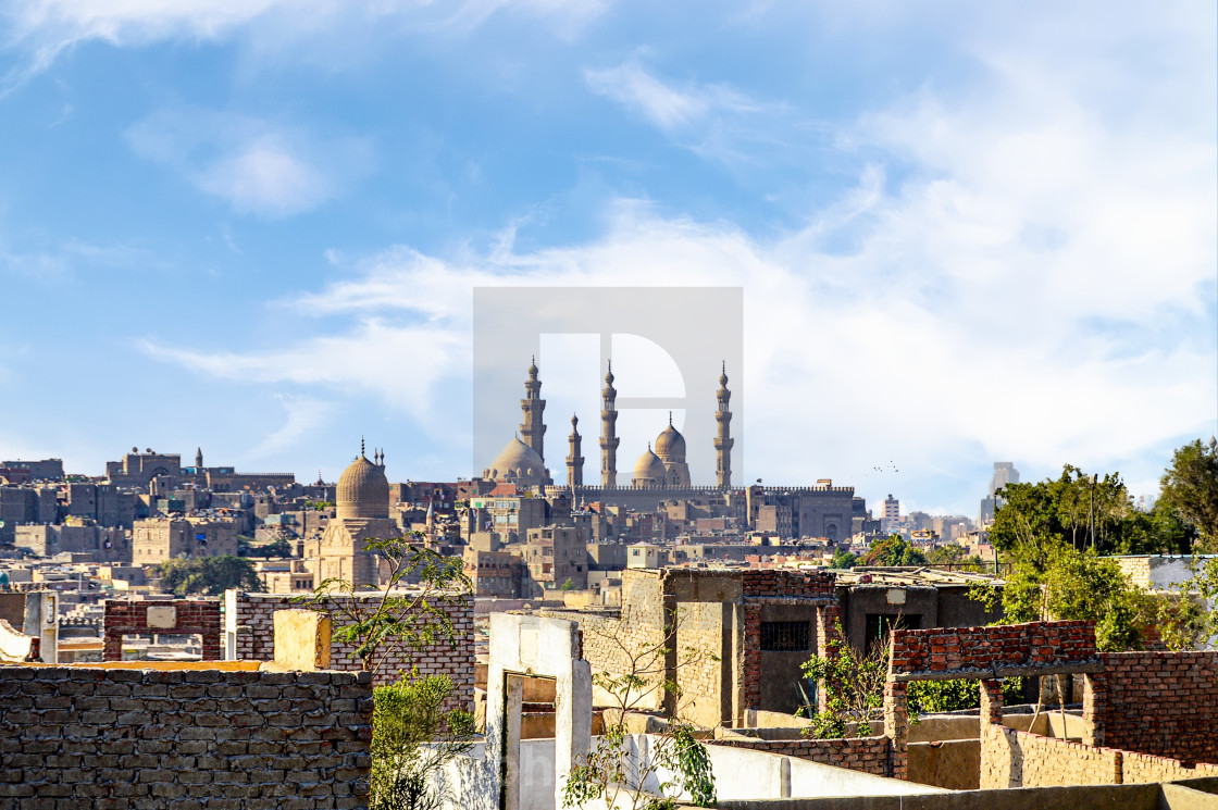 """Prominent Minarets in Cityscape of Cairo, Egypt"" stock image"