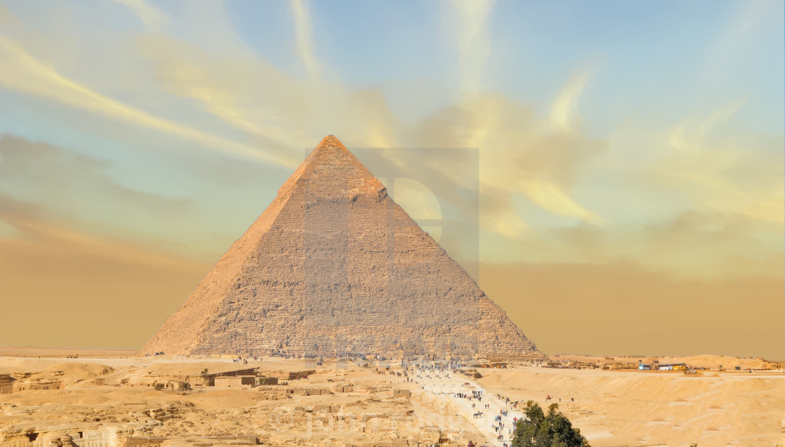 """The Great Pyramid of Giza is 5,000 Years Old"" stock image"