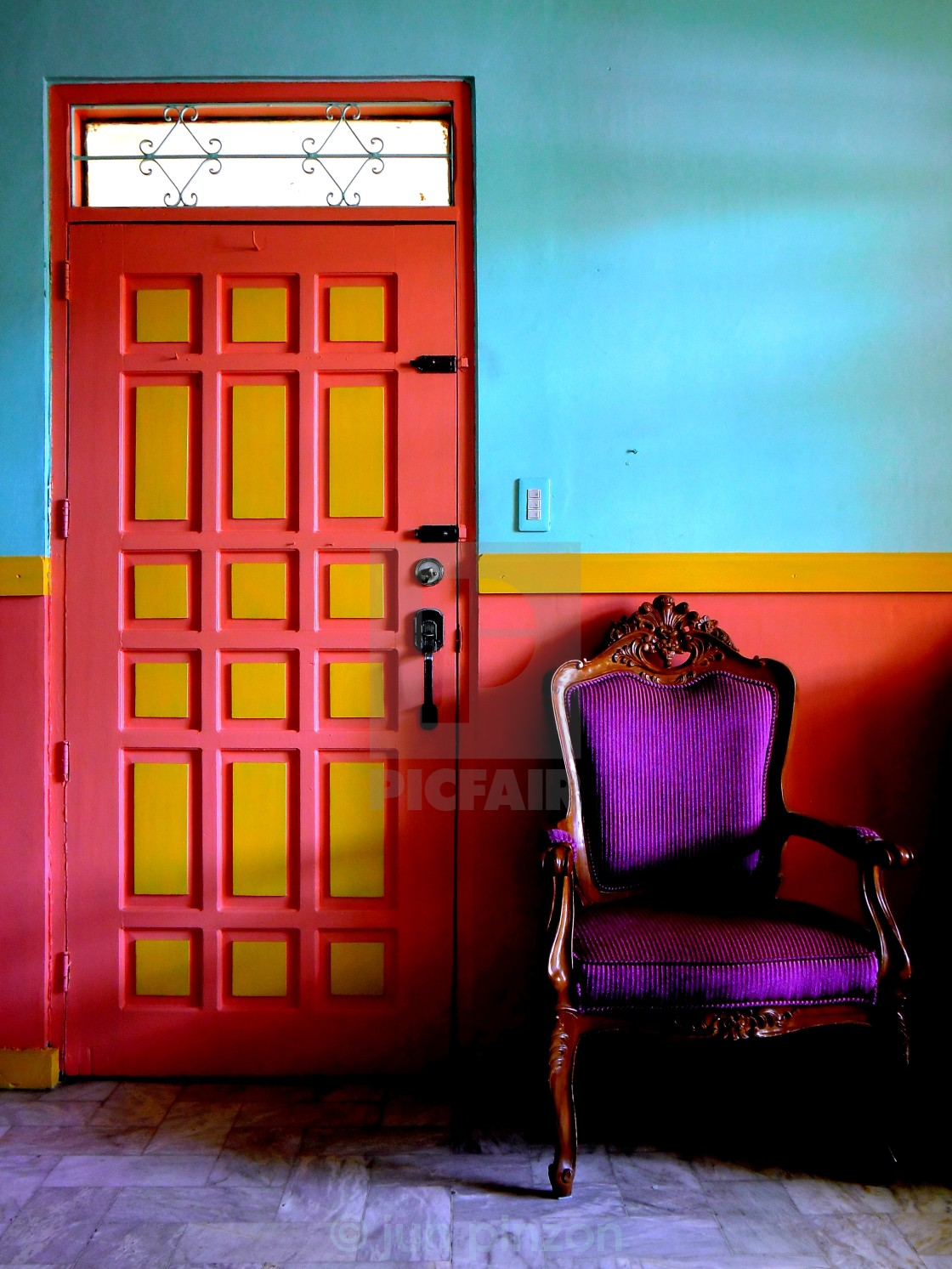 """colorful living room"" stock image"