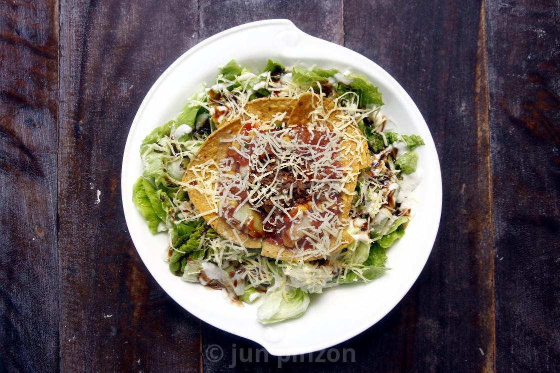 """Taco salad"" stock image"
