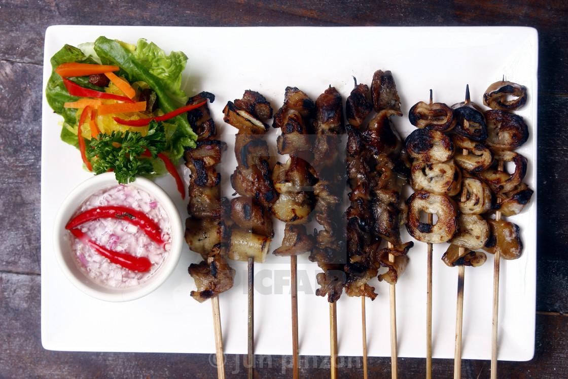 """Pork innards barbecue"" stock image"