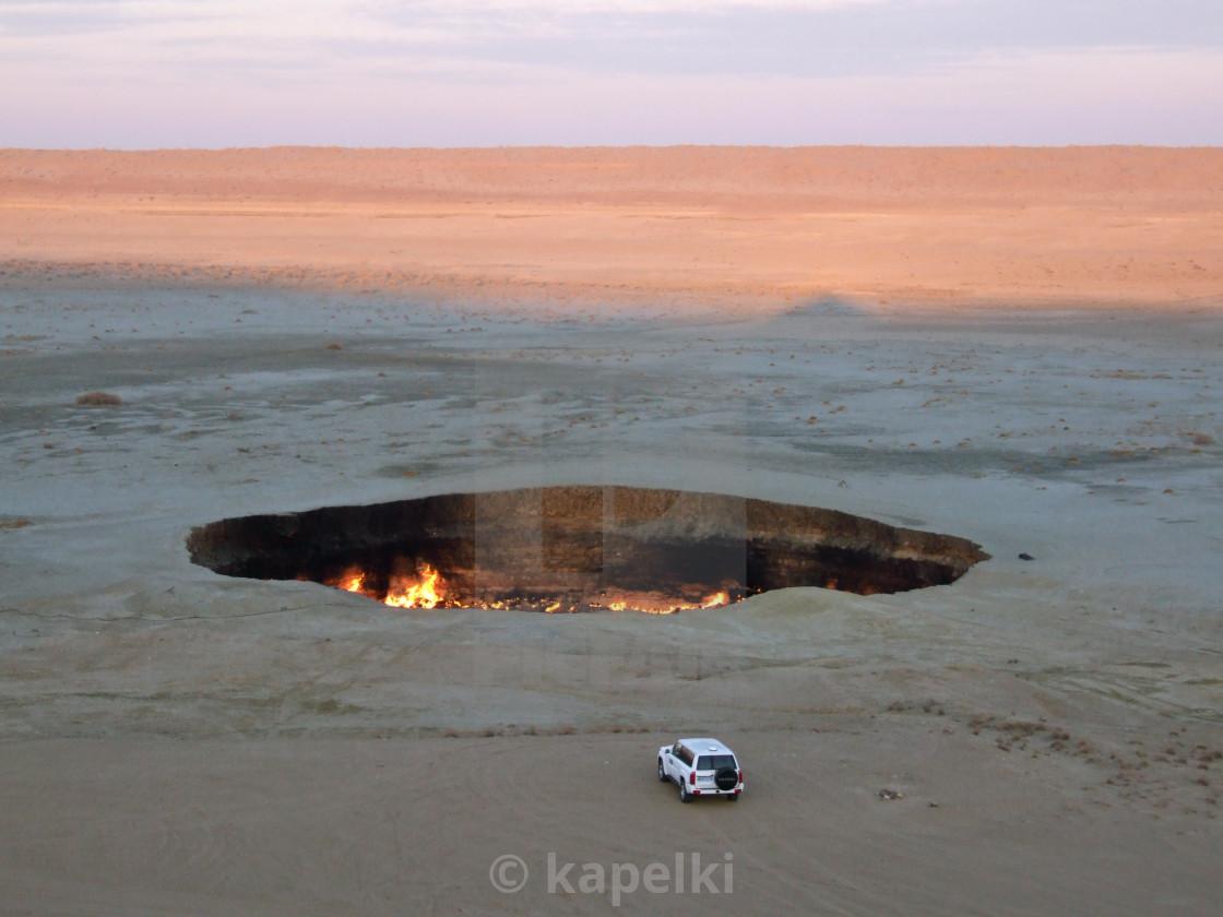"""Darvaza crater"" stock image"